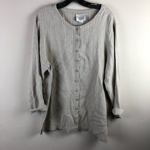 Eileen Fisher New York women's top sz M linen